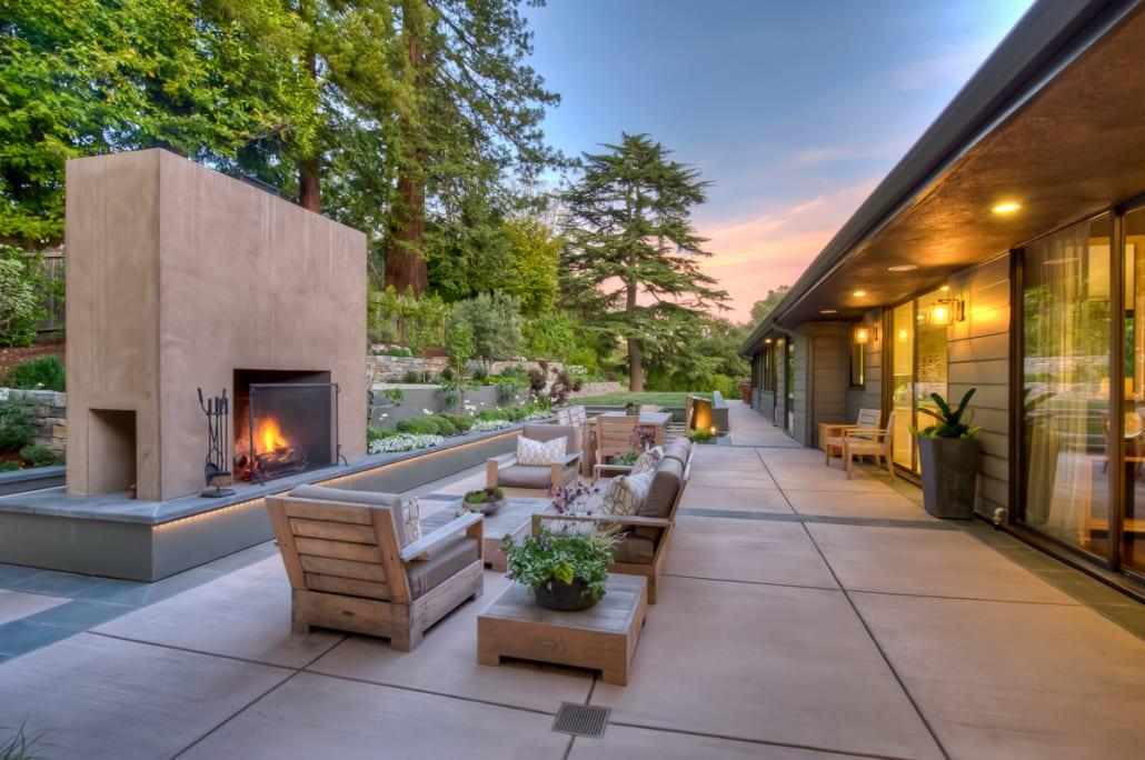 mid century modern david thorne la rh thornela com  mid century modern outdoor fireplace for sale